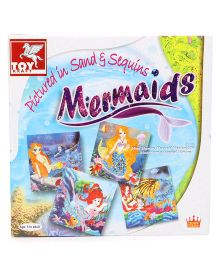 Toy Kraft Pictures In Sand & Sequins Mermaids - Multicolor