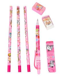 Stationary Set Pack of 7 - Pink