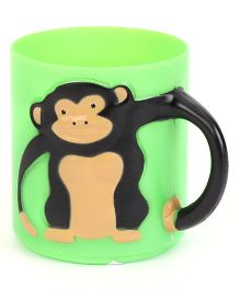Wild Republic Monkey Applique Baby Cup - Green