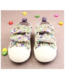 Walktrendy By Walkinlifestyle Canvas Shoes Floral Print - Purple
