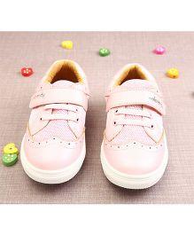 Walktrendy By Walkinlifestyle Sneaker Shoes With Cut Work - Light Pink
