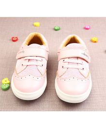 Walktrendy By Walkinlifestyle Sneaker Shoes With Cut Work - Light Pink