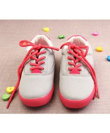 Walktrendy By Walkinlifestyle Sneaker Shoes With Lace - Grey Red