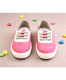Walktrendy By Walkinlifestyle Shimmery Canvas Shoes - Pink