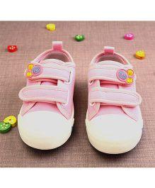 Walktrendy By Walkinlifestyle Canvas Double Velcro Sneakers - Pink
