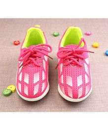 Walktrendy By Walkinlifestyle Lace Up Sports Shoes - Pink