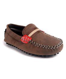 Cute Walk by Babyhug Slip-on Loafers - Light Brown