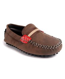 Cute Walk by Babyhug Slip-on Loafers - Light Brown