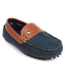 Cute Walk by Babyhug Loafer Shoes - Blue & Brown
