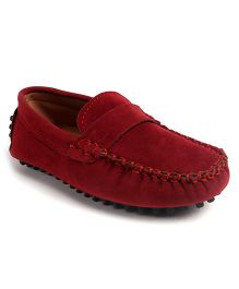 Cute Walk by Babyhug Loafer Shoes - Maroon