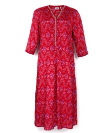 Kriti Full Sleeves Maternity Kurta - Fuchsia