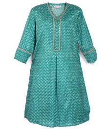 Kriti Full Sleeves Printed Maternity Kurta - Green
