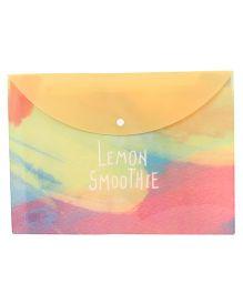 Envelope Folder Pouch Lemon Smoothie Print - Multicolor