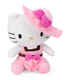 Starwalk Hello Kitty Plush Soft Toy In Dress And Hat Pink & White - Height 35 cm Approx
