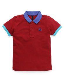 UCB Half Sleeves T-shirt - Red