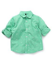 UCB Full Sleeves Shirt Kites Print - Green