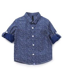 UCB Printed Full Sleeves Shirt - Blue