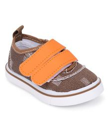 Cute Walk by Babyhug  Casual Shoes Dual Velcro Closure - Light Brown & Orange