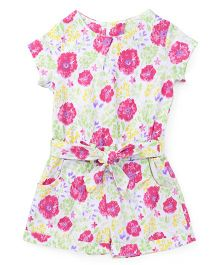 UCB Jumpsuits Floral Print With Waist Belt  - Multi Color