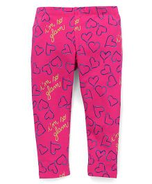 UCB Full Length Leggings Heart Print - Pink