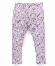 UCB Full Length Leggings Floral Print - Grey