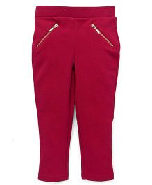 UCB Full Length Jeggings Solid Color - Dark Pink