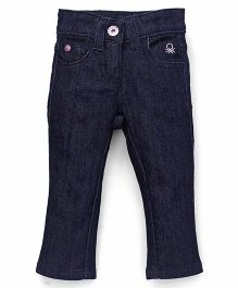 UCB Full Length Jeans Solid Color - Dark Blue