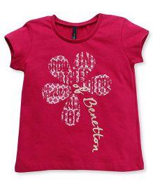 UCB Short Sleeves Tee Benetton Print - Fuchsia