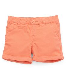 UCB Shorts Turn Up Hem Solid Color - Light Orange