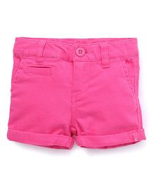 UCB Shorts Turn Up Hem Solid Color - Pink
