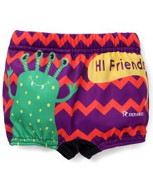 Rovars Swimming Trunks Alien Print - Multi Color