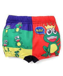 Rovars Swimming Trunks Frog Prince Print - Multi Color