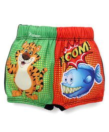 Rovars Swimming Trunks Tiger Print - Multi Color