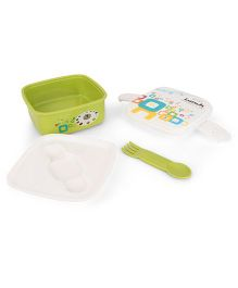 Delicious Lunch Print Lunch Box - Green