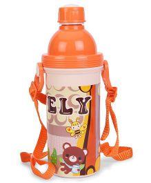 Water Bottle With Strap Orange - 450 ml