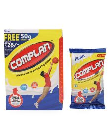 Complan Classic Plain 50 gm Sachet Worth Rs. 28 Free With This Pack - 500 gm