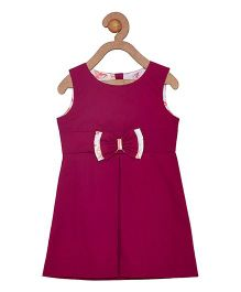Campana Sleeveless Dress With Bow - Dark Purple