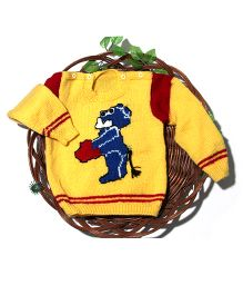 Soft Tots Cute Puppy Sweater - Yellow