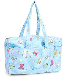 Mee Mee Mama's Bag With Bottle Holder Print - Blue