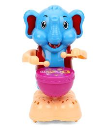 Playmate Happy Elephant Drummer Toy - Blue