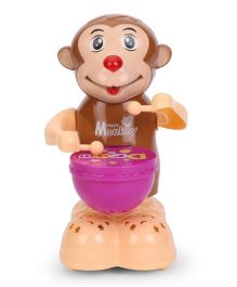 Playmate Happy Monkey Drummer Toy - Brown