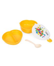 Clip Lock Lid Lunch Box - Yellow & White