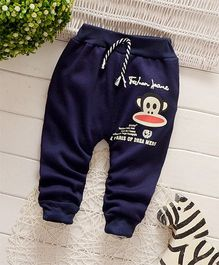 Dells World Monkey Face Patchwork Joggers - Blue