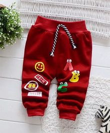 Dells World Patchwork Alphabets Joggers - Red