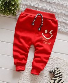 Dells World Smiley Winked Joggers - Red
