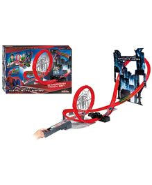 Majorette Spiderman Battery Operated Showdown Track Set