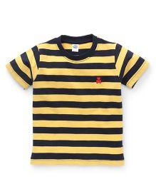 Teddy Half Sleeves Tee Stripes - Yellow
