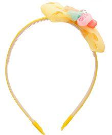 Yashasvi Hair Band Bow Applique - Yellow