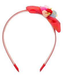 Yashasvi Hair Band Bow Applique - Red