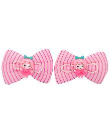 Yashasvi Alligator Hair Clip Bow Style - Baby Pink